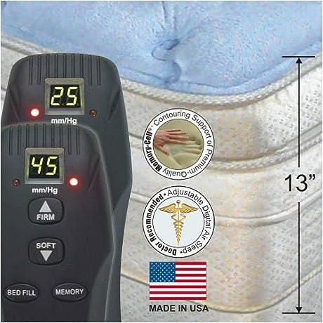 King 13 InnoMax Dual Digital Sleep Cashmere Memory Foam Pillowtop Air Bed