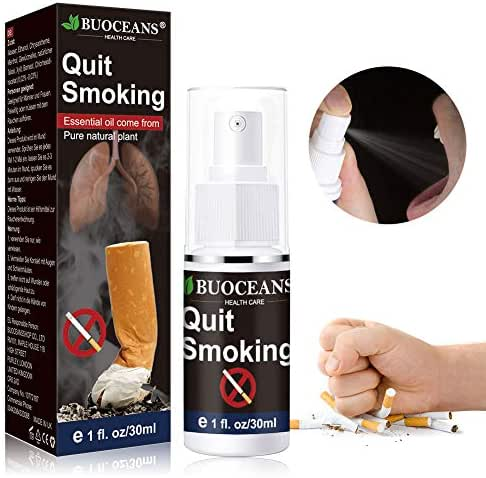 Quit Smoking, Nicotine Craving Relief Spray, Fight Nicotine Withdrawal Symptoms, an Easy Way to Quit Smoking Cigarettes Without Side Effects, an All Natural & Nicotine Free Stop Smoking Aid