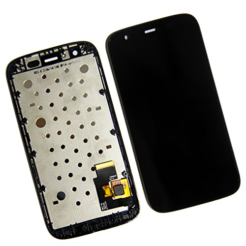 (Skiliwah® LCD Display Touch Screen Digitizer Assembly For Motorola Moto G XT1032 XT1036 XT1031 + Frame Black)