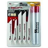 MK Morse RBKITGP01 17-Piece General Purpose Reciprocating Blade Assortment With Storage Case