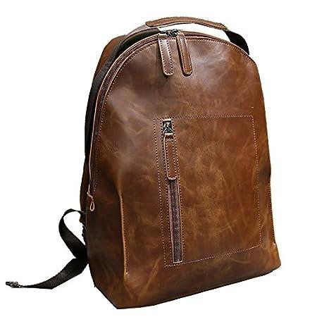 BOAOGOS Backpack Mochilas Tipo Casual Bolsas Artesanales Daypacks Casual Hombres Y Mujeres Bolso de Viaje En El Exterior,Marrón: Amazon.es: Equipaje