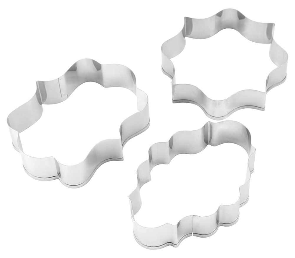 BleuMoo 3PCS Stainless Steel Frame Biscuit Cookie Cutter Fondant Cake Molds