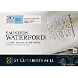 "Saunders Waterford Block 300gsm 355 x 508mm (14"" x 20"") 20 Sheets NOT"