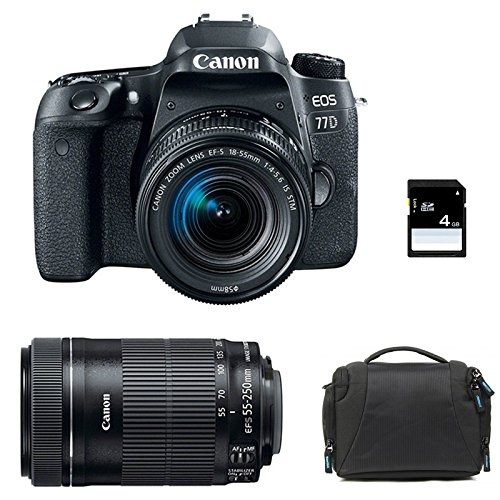 Canon EOS 77D + 18-55 IS STM + 55-250 IS STM + Sac + SD 4Go ...