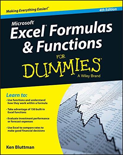 Excel Formulas & Functions for Dummies (4th 2015) [Bluttman]