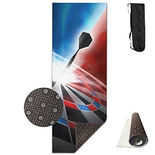 (Tataoceanie Yoga Mats, Dart Board Non Slip High Density Anti-Tear Premium Printed Workout Yoga Mat Rug Carpet With Free Carry Bag For Women Men Kids)