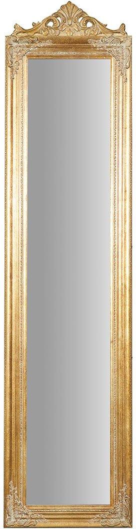 Biscottini Specchio Specchiera da terra in legno 43x3, 5x178 cm finitura oro anticato. Ideale per la camera da letto