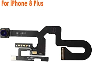 Johncase New OEM 7MP Front Facing Camera Module w/Proximity Sensor + Microphone Flex Cable Replacement Part Compatible for iPhone 8 Plus (All Carriers)