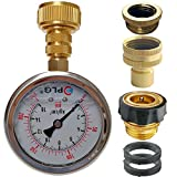 3 4 in water pressure regulator - PLG Quick Connect/Disconnect Water Pressure Gauge Kit,2 in.Gauge w/Oil, 0 psi 230 psi,Push-Lock 3/4 GHT Hose Connector,3/4 to 1/2 Spigot Adapters