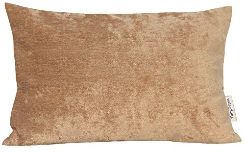 TangDepot Handmade Solid Chenille Decorative Throw Pillow Covers, Pillow Shams, Rectangle pillow covers, Cushion Covers, Pillowcase - (12