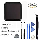 Ogodeal Apple Watch 38mm New Screen Replacement Repair Kit(1st Generation) Sport Version A1553 100% Original OEM LCD and Digitizer Touch Glass Screen Assembly with Repair Tool Set 38 MM
