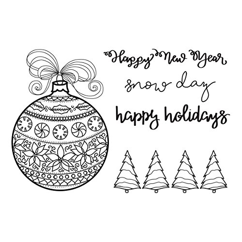 Spellbinders Happy Ornaments by Stephanie Low Stamp and - Spellbinders Happy Holidays