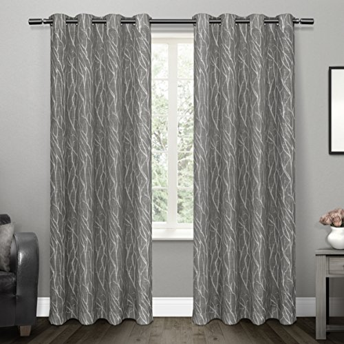exclusive-home-oakdale-textured-linen-motif-sheer-grommet-top-window-curtain-panel-pair-black-pearl-