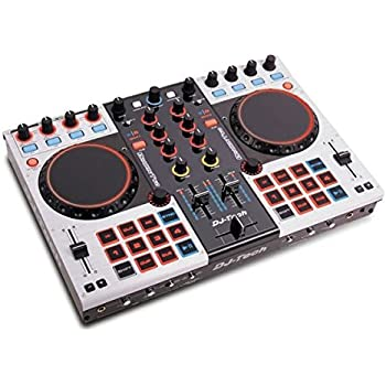 djtech dragontwo professional 4 channel digital dj controller and mixer musical. Black Bedroom Furniture Sets. Home Design Ideas