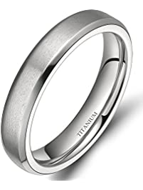 4mm6mm8mm unisex titanium wedding band rings - Black Wedding Rings For Men