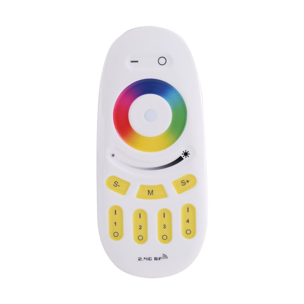 2.4G 4-Zone Wireless RGBW Controller RGB/CCT LED Touch Remote Controller for Color and Brightness Controlling Zerodis
