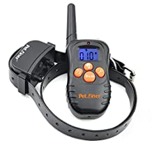 Petrainer 330 Yards Safe Remote Training E-collar PET998N Rechargeable and Waterproof Dog Training Collar with Safe Beep and Strong Vibration, NO STATIC SHOCK