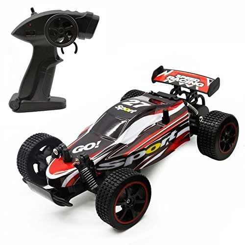 Fast RC Cars Off Road 1:20 2WD Remote Control Trucks for Adults Radio Controlled Drift Race Buggy Hobby Car (Red) ()