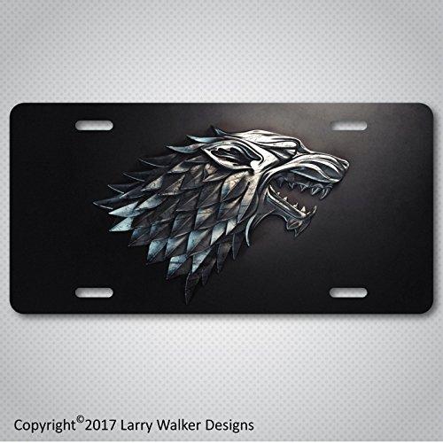 House Stark Game of Thrones Aluminum License Plate Tag New (House Stark License Plate)