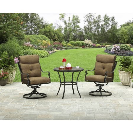 Better Homes and Gardens Bailey Ridge 3-Piece Aluminum Bistro (3 Piece Swivel Rocker)