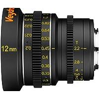 Veydra V1-12T22M43M, Mini Prime 12 mm T2.2 Metric Cinema Lens with Manual Focus, Black