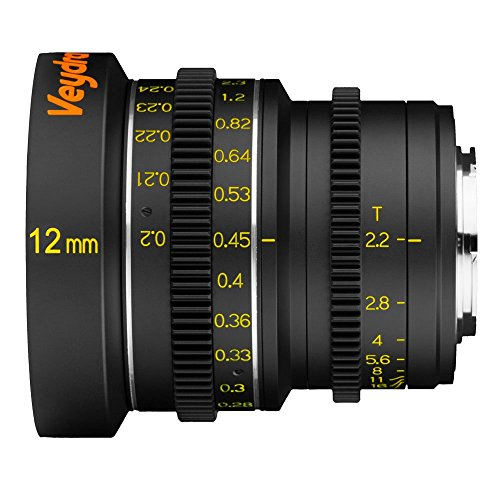 Veydra V1-12T22M43M, Mini Prime 12 mm T2.2 Metric Cinema Lens with Manual Focus, Black by Veydra