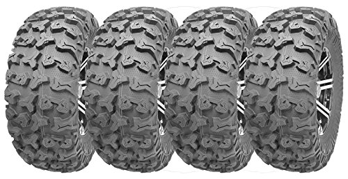 Full Set Wanda ATV/UTV Tires 27x9R14 Front 27x11R14 Rear /8PR Radial Deep Tread by Wanda