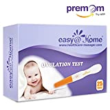 Easy@Home 25 Ovulation Predictor Kit Test Sticks - Midstream Fertility Tests Powered by Premom Ovulation Predictor App, 25 LH Tests