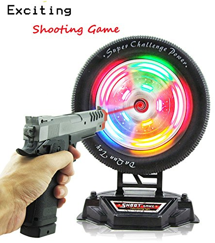 Ziyier G&E: Shooting Wheel Target Game / Christmas Gift/ Birthday Present/ Boy War Game/ Long Distance Distance playing toy -