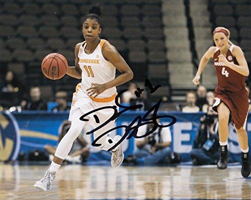 DIAMOND DESHIELDS signed (TENNESSEE LADY VOLS) WNBA *CHICAGO SKY* 8X10 W/COA #3 - Autographed College Photos