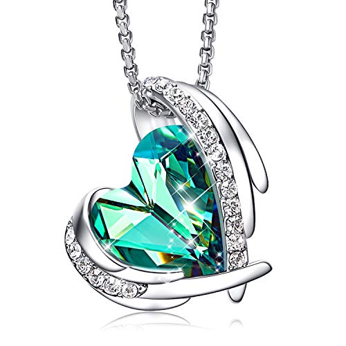 - CDE Women Jewelry Heart Pendant Necklace Embellished with Crystals from Swarovski Gift for Women