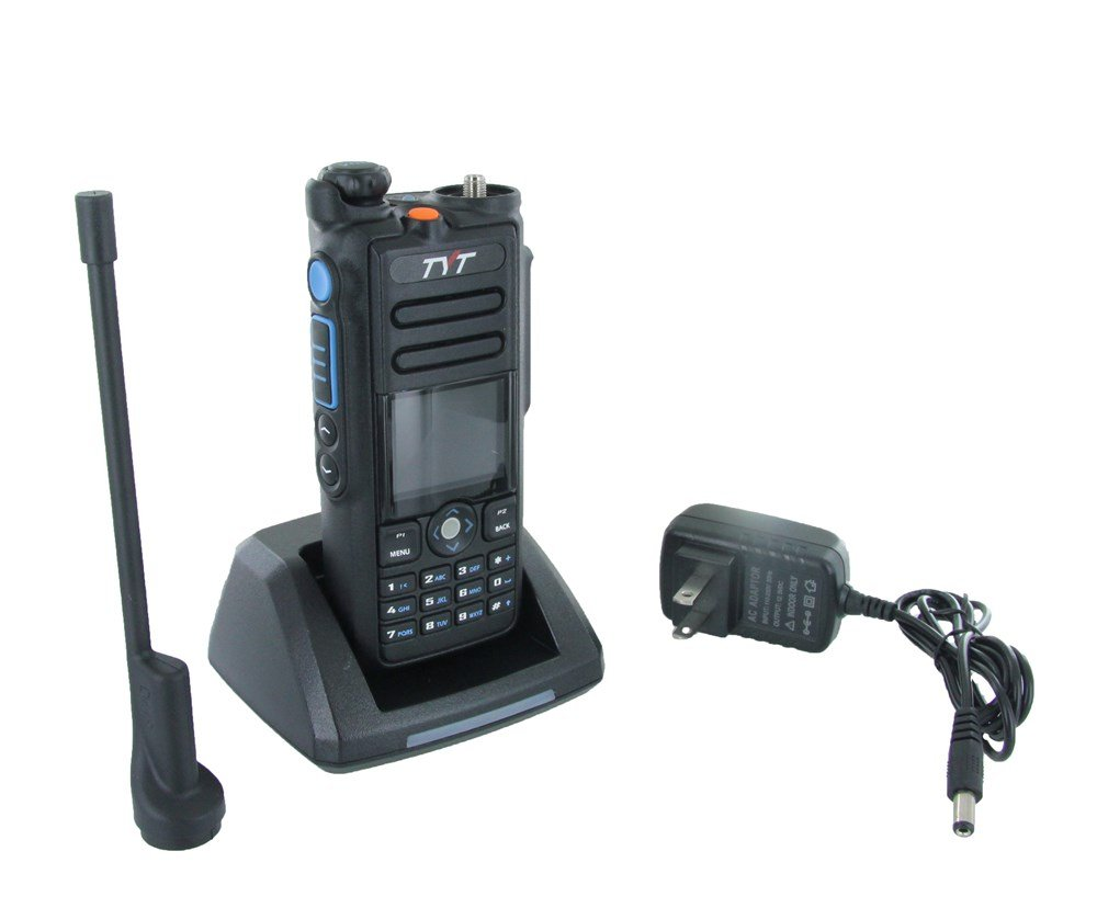 TYT MD-2017 Dual Band Tier I & II DMR/Analog Radio 136-174MHz & 400-480MHz, Up to 3000 Channels, Color Display, with Programming Cable and Software. Ship from USA Only