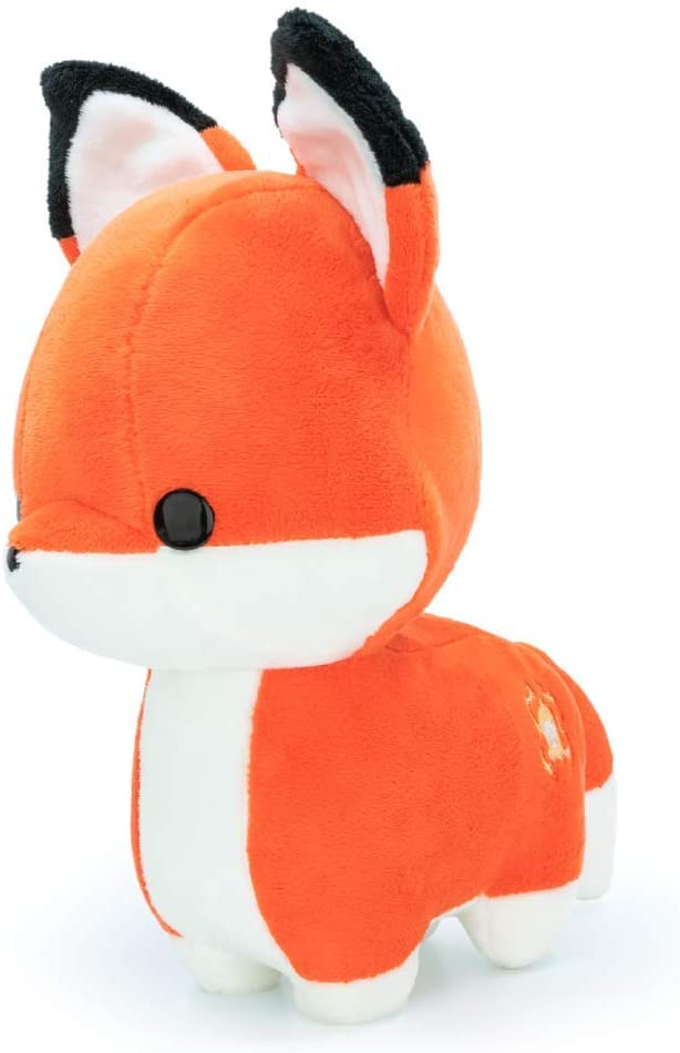 Bellzi Orange Fox Cute Stuffed Animal Plush Toy - Adorable Soft Fox Toy Plushies and Gifts - Perfect Present for Kids, Babies, Toddlers - Pouncing Foxxi