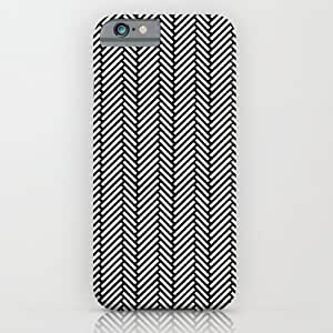 Society6 - Herringbone Black iPhone 6 Case by Project M