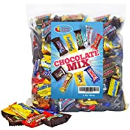 Chocolate Variety Pack Fun Size Mix, Easter Candy Bulk, All Your Favorite Chocolate Bars Including M&M, Snickers, Butterfinger, Twix and More, 4 LB Bulk Candy