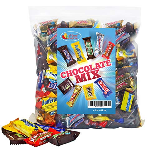 Chocolate Variety Pack Fun Size Mix, All Your Favorite Chocolate Bars, 4 LB Bulk Candy