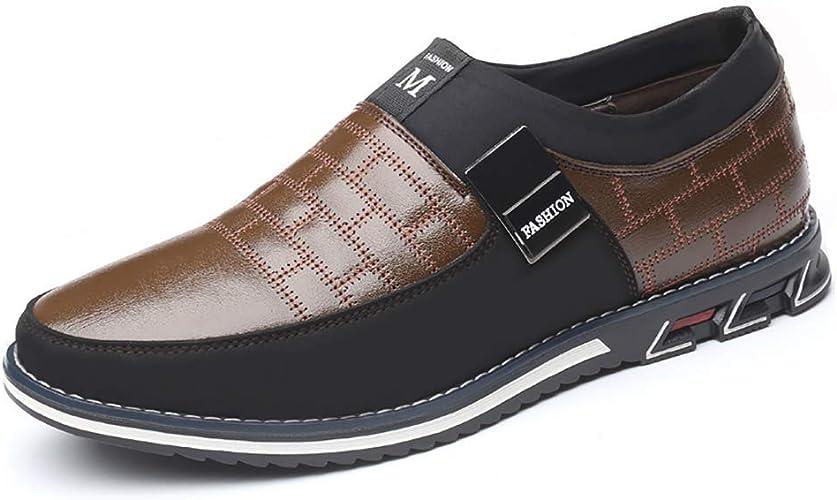 Business Schuhe Herren Anzug schuhe Halbschuhe Mokassins Slipper O71 Schwarz Gr.