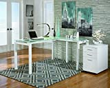 Signature Design by Ashley H410-24 Baraga Collection Home Office Desk, 61', White