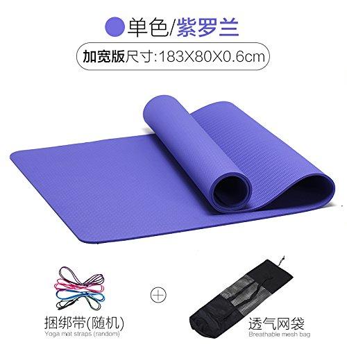 Violet 80 1 6 6Mm( Beginner) YOOMAT Le Messieurs TPE Formation Fitness Mat pour intérieur extérieur Exercice Pad portable 2 Face antidérapante Texturée Yoga Mat61520