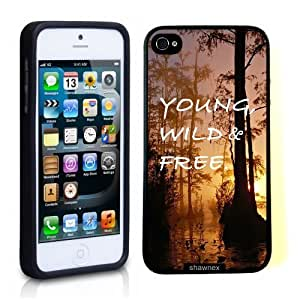 Case For Sam Sung Note 4 Cover Thinshell Case Protective Case For Sam Sung Note 4 Cover Young Wild And Free Woods Quote