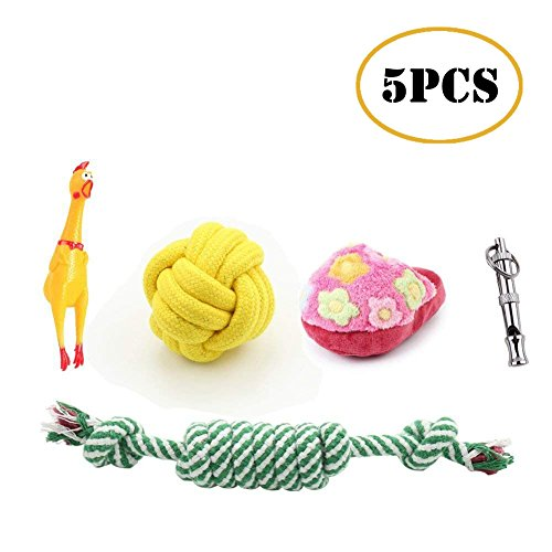 Pets Puppy Dog Pet Rope Toys,Squeaky Plush Dog...