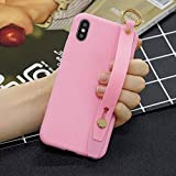 Amocase Soft Silicone Case with 2 in 1 Stylus for Samsung Galaxy S10,Cute Sweet Candy Color Wrist Strap Stand Shockproof Anti-Scratch Flexible Case - Dark Pink