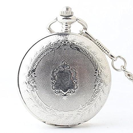 HBB Silver Queen / reír bis bolsillo espejo de la tabla / cuerda manual mecánica reloj / cáscara de la aleación / acrílico: Amazon.es: Deportes y aire libre