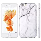 "iPhone 6S Case, Insten [Marble Pattern] Ultra Slim Lightwight Soft TPU Rubber Candy Skin Anti Slip Case Cover For Apple iPhone 6/ 6S (4.7""), White"