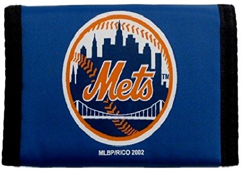 Rico MLB New York Mets Products MLB Nylon Wallet New York Mets, Black, Small ()