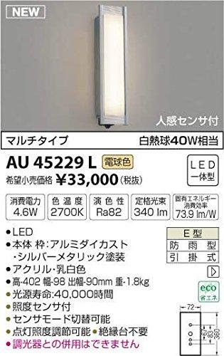 【あす楽対応】 AU45229L 電球色LED人感センサ付アウトドアポーチ灯 B01GCAYSJ0 B01GCAYSJ0, 三番舘:b1a06a02 --- a0267596.xsph.ru