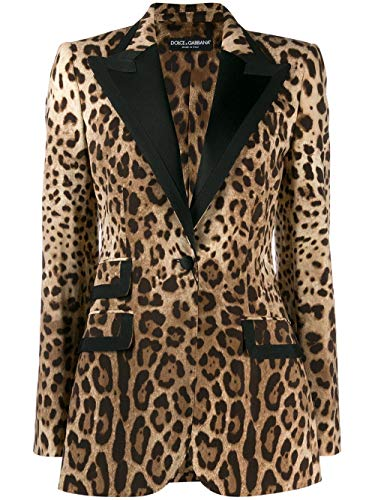 Dolce e Gabbana Luxury Fashion Woman F29ACTFSBAVHY13M Beige Polyester Blazer | Fall Winter 19