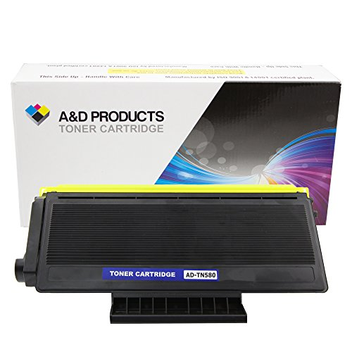 A&D Products Compatible Replacement For Brother TN580 TN550 Toner Cartridge High Yield Black (7,000 Page Yield)