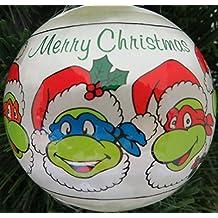 Vintage TEENAGE MUTANT NINJA TURTLE Christmas Ornament 1990 (New)