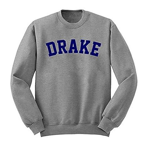 ZFFde Drake Hoodies Damen Einfach Verdickt Grau Sweatshirt